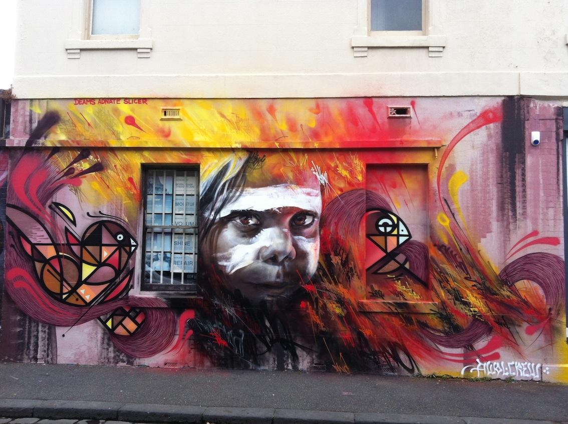 Deansunshine landofsunshine melbourne streetart graffiti awol crew 7 land of sunshine