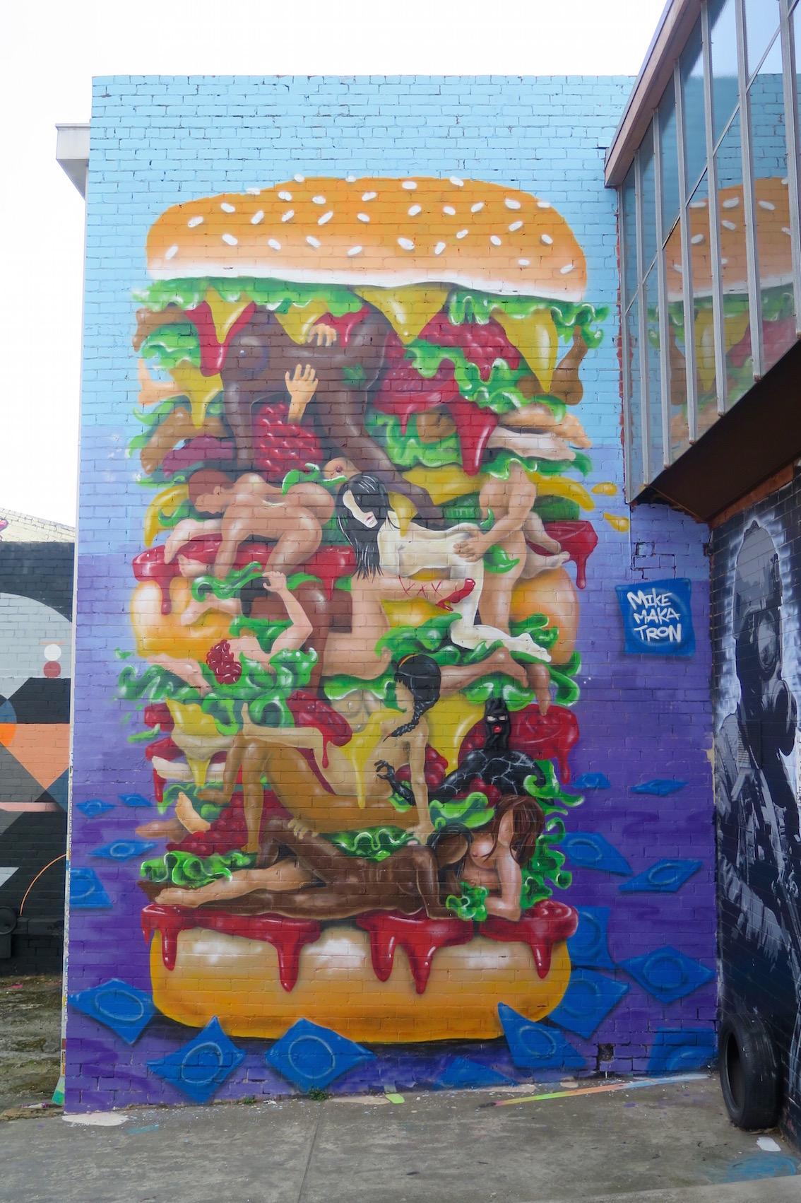 deansunshine_landofsunshine_melbourne_streetart_graffiti_Makatron kama Sutra burger 2