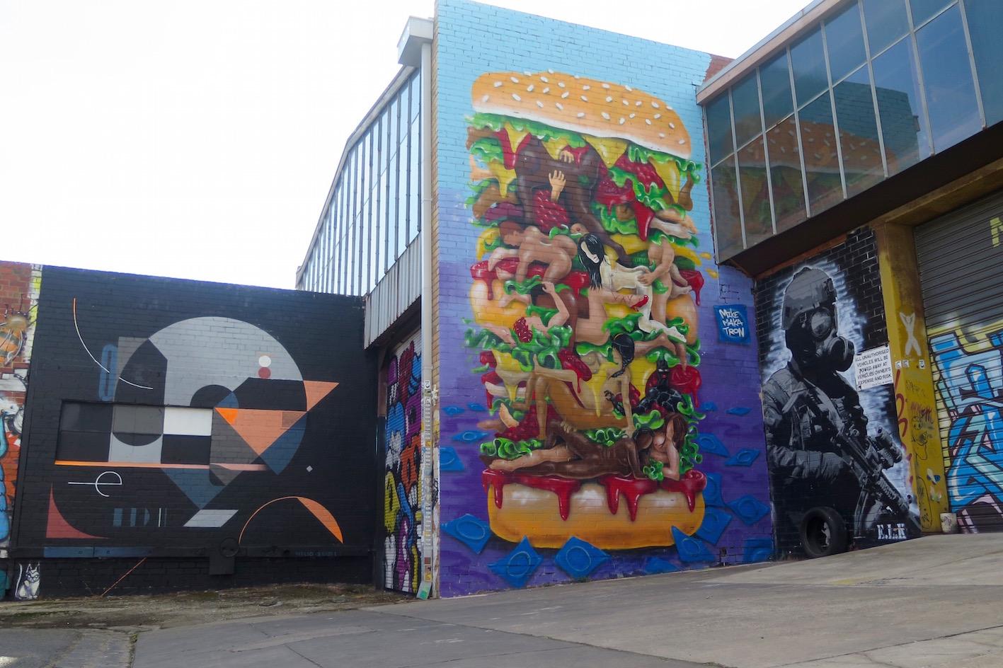 deansunshine_landofsunshine_melbourne_streetart_graffiti_Makatron kama Sutra burger 3